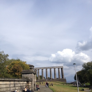 The Parthenon like monument on Calton Hill