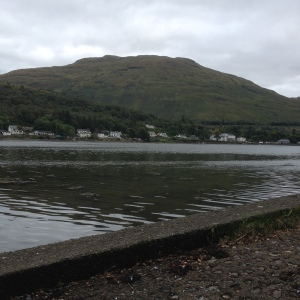 Loch Long - we all stopped for a drink at the pub across the water.