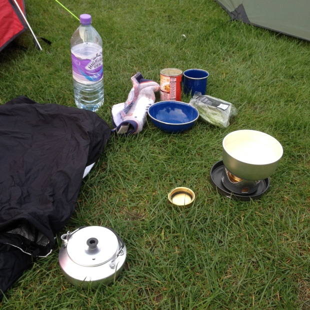 dinner time - camping style.